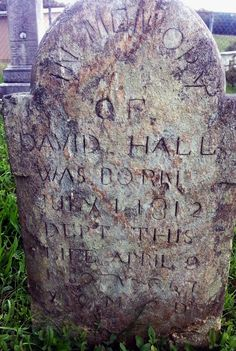 This is the Grave Stone of my 5th Uncle by marriage David Hall who fought for the Confederacy during the Civil War:  Side:Confederate Regiment State/Origin:Virginia Regiment Name:4 Virginia Reserves Regiment Name Expanded:4th Regiment, Virginia Reserves Company:A Rank In:Private  Rank Out:Private