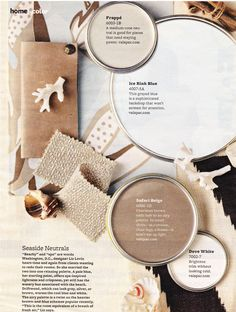 Beachy, spa color palette - BHG Feb. 2011