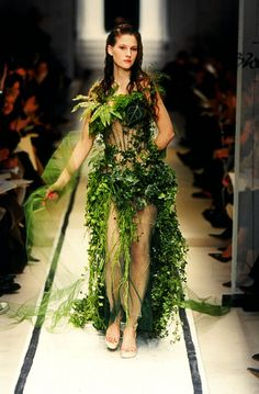 literally green dress #fashion #nature