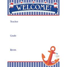 CD 110358 Seas the Day Nautical Theme Mini Bulletin Board Set Teacher Supply