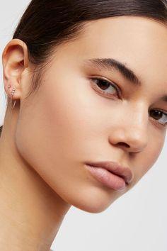 Slide View 4: Teeny Chained Earrings
