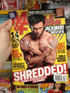 "ficklefandoms:      peonymoonflower:          supercargautier:              manifestingwomanist:                  bushtitfeminist:                      jadelyn:                          enterprisingly:                              This is the same man.                          This works quite nicely at debunking the ""beefcake guys in comics are objectified for women just like women in comics are for men!"" imo.  On the left: a magazine tailored for a male audience, showing him in full…"