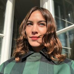 Lived-In Shoulder-Length. A wavy, middle-parted 'do with shiny strands. Click through for 30 short haircut ideas for fine hair. #shorthaircuts #hairideas #hairstyles #thinhair IG: @alexachung Thin Hair Short Haircuts, Short Wavy Hair, Keratin, Hair A, Your Hair, Alexa Chung Hair, Tousled Bob, Grown Out Pixie, Retro Curls