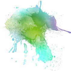paint splatter purple green - Google Search