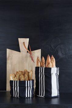 Panière gourmande coton Jean-Vier Maia Noir - Cotton tasty basket Jean-Vier Maia Noir >> http://www.jean-vier.com/