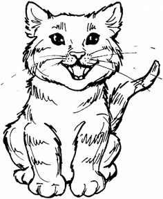 cat color pages printable  Kids Coloring Pages  Free Printable