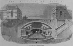 Proposed station at Baker Street - Historic engineering photos, illustrations and drawings Old London, East London, London Boroughs, Crimean War, Greater London, London Underground, London Life, Baker Street, African American History