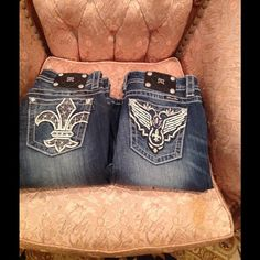 Size 28 Bundle~ inseam 34 For these magnificent beauties! Price includes both pairs pictured here! Miss Me Jeans Boot Cut