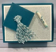 SCRAPBOOKING WITH M.E.: Graduation Slider Gift Box with Hidden Card