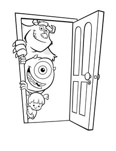 coloring page Monsters Inc - Monsters Inc