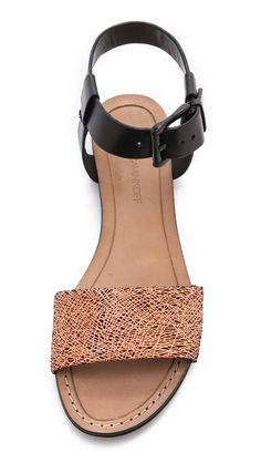 rebecca minkoff // flat sandals with ankle strap