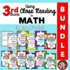 3rd Grade Bundle: Close Reading in Math by Math Lady in MD | TpT