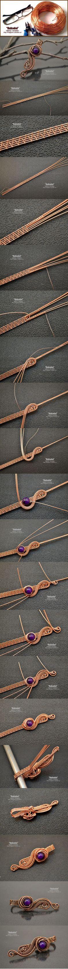 Pendant Wire - photo master class. Wire Wrap Pendant | Crafts