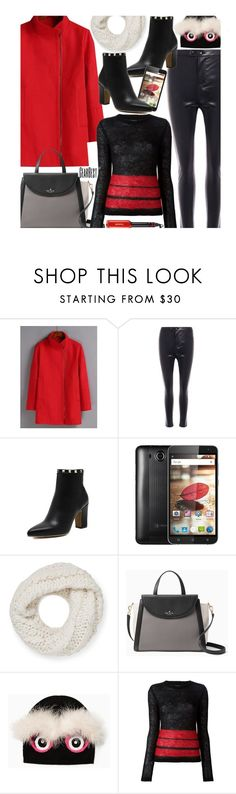 """""""Casual"""" by beebeely-look ❤ liked on Polyvore featuring Rebecca Minkoff, Kate Spade, Jean-Paul Gaultier, StreetStyle, beanies, winterstyle, wintersweater and gearbest"""