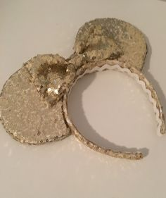 DIY gold sequin Minnie ears
