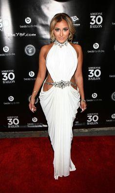 Adrienne Bailon in Michael Costello celebrating her 30th Birthday at XXI in New York City.