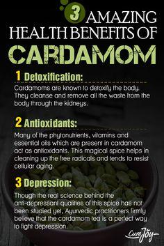 Amazing Health Benefits Of Cardamom ==>