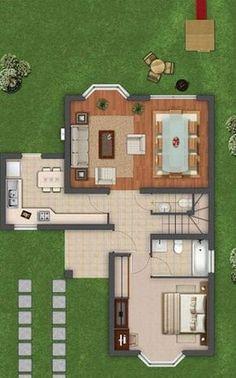 Charming Planos De Casas Modernas De 120 M2 · Modern KitchensModern Home PlansTwo ...
