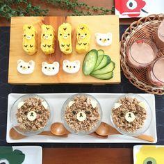 Rilakkumar, Korilakkumar & Kiiroitori lunch by Ikuko❁ (@ikku.tky)