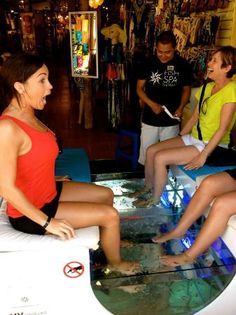 The Royal Playa del Carmen: Fish Spa Therapy on 5th!... I want to try this!!