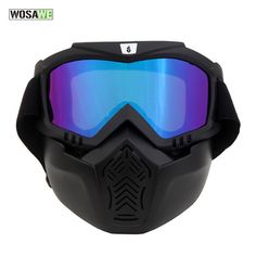 WOLFBIKE Windproof Snowboard Ski Glasses Downhill Bicycle Goggles Motocross Eyewears With Face Mask Protection Gear Sunglasses