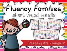 FLUENCY FAMILIES {SHORT VOWEL GROWING BUNDLE} - TeachersPayTeachers.com