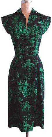 Day Dress in Ming Green.