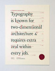Beautiful Typographic Poster celebrating Type! #hillhousegraphicdesign