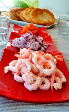 Langos - ZEINAS KITCHEN Shrimp, Nom Nom, Food And Drink, Fish, Snacks, Meat, Dinner, Recipes, Green Garden