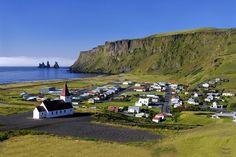 Vik Iceland - Black Sand Beaches, Myrdalsjokull Glacier, Dyrholaey
