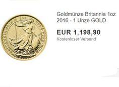 """Nachschlag: Goldmünze Britannia (1 Unze) zum Tagespreis von 1198 Euro https://www.discountfan.de/artikel/technik_und_haushalt/nachschlag-goldmuenze-britannia-1-unze-zum-tagespreis-von-1198-euro.php Nachdem Ebay am Donnerstag bereits den """"Maple Leaf"""" und das australische """"Känguru"""" zum Gold-Spotpreis verkauft hat, gibt es am heutigen Montag die Goldmünze """"Britannia 2016"""" ebenfalls ohne nennenswerten Aufschlag zum aktuellen Tagespreis. Na"""