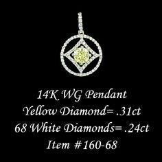 Canary yellow diamond pendant.