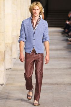 Hermès Spring 2014 Men's Collection Cardigan and scarf