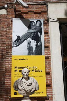 "Cartel de la Exposición ""Manuel Carrillo. Mi querido México"" en el Museo Lázaro Galdiano.  #Madrid #PHE15 #PhotoEspaña2015  ""#Cartel #Affiche #Arterecord 2015 https://twitter.com/arterecord"