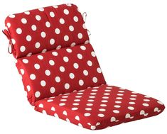 Shop for Red and White Polka Dot Outdoor Patio Furniture Chair Seat and Back Cushion. Get free delivery On EVERYTHING* Overstock - Your Online Garden & Patio Shop! Round Chair Cushions, Patio Seat Cushions, Outdoor Cushions And Pillows, Buy Pillows, Cushion Source, Polka Dot Chair, Pillow Sale, Perfect Pillow, Chair Covers