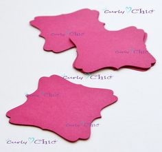 125 Square Bracket IV Tags Size 2.50 In Non-textured by CurlynChic
