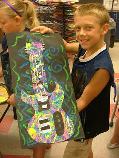 Art with Mrs. Seitz: Pollock Guitars