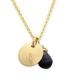 Another great find on #zulily! Gold & Sapphire Initial Charm Necklace by Jenny Present #zulilyfinds