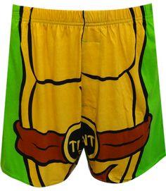 WebUndies.com Teenage Mutant Ninja Turtle Boxer Shorts With Cape
