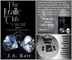 Welcome to the Braille Club, where blindfolds are mandatory and members play sensual games of pleasurable endurance. Three couples take part in this. Julie Ann, Black Friday, Club, Books, Libros, Book, Book Illustrations, Libri