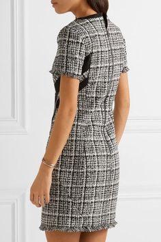 Karl Lagerfeld - Fringed Cotton-blend Tweed Mini Dress - Black - IT38