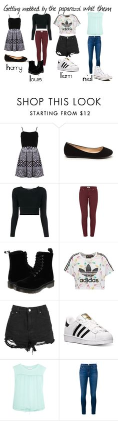 """""""Getting Mobbed By The Paparazzi With Them"""" by mari-horan1313 on Polyvore featuring moda, FRACOMINA, Jonathan Simkhai, Paige Denim, Dr. Martens, adidas Originals, adidas, See by Chloé, Frame Denim y Converse"""