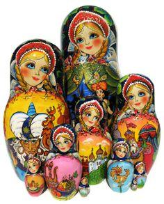 Golden Cockerel Nesting Dolls