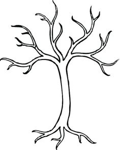 bare tree without leaves coloring pages tree coloring pages kidsdrawing free coloring pages online - Birch Tree Branches Coloring Pages