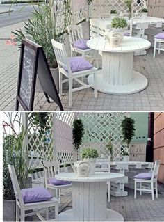 Again if you want to add more and more charm to your wooden reel cable products, paint your wooden cable reel in straight white color, and place it with other white painted chairs and offer a sober look to your space. Or place a giant cable reel in your garden and install tiny sitting stools in its surroundings along with a bushy roof top to make a hut.