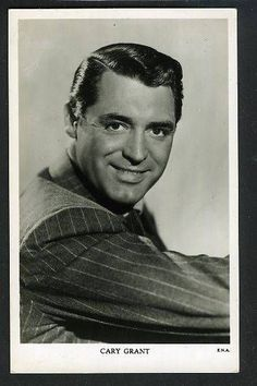 "Vintage CARY GRANT UK B/W  Postcard 1940s ""Great Star"""