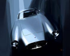 Maserati A6GCS Berlinetta Art Print by Vadim Artemyev