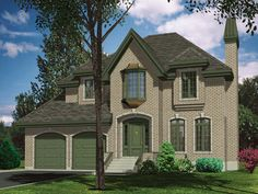 Open floor plan with spacious rooms in this two story luxury home.  Luxury House Plan # 571049.