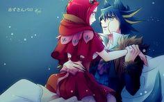 Yusei and Aki - Little Red Riding Hood Yu Gi Oh 5d's, Anime Ships, Red Riding Hood, Image Boards, Anime Love, Anime Couples, True Love, Fan Art, Cartoon