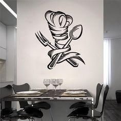 Adesivo Decorativo de Cozinha - Toque Blanc e Talheres - 003cz